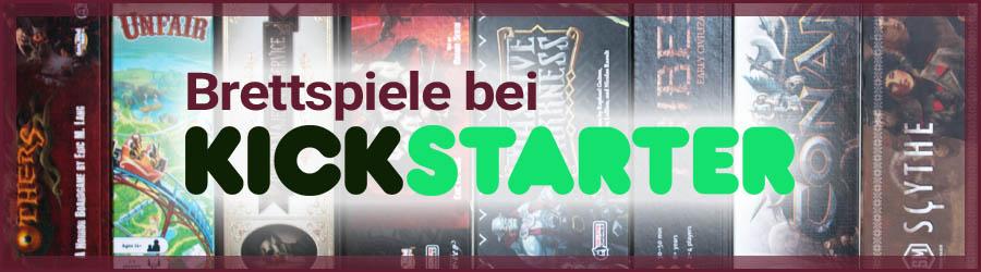 Brettspiele bei Kickstarter