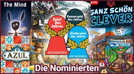 Spiel des Jahres 2018 - Die Nominierten