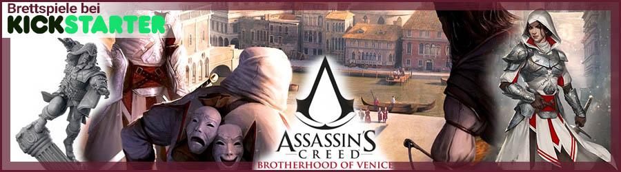 Brettspiele bei Kickstarter: Assassin's Creed - Brotherhood of Venice