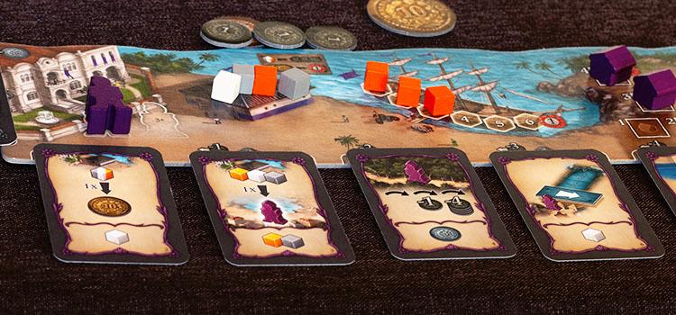 Valparaiso Brettspiel Spieler Tableau