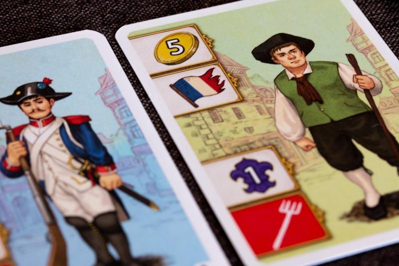 Bastille Brettspiel Charaktere