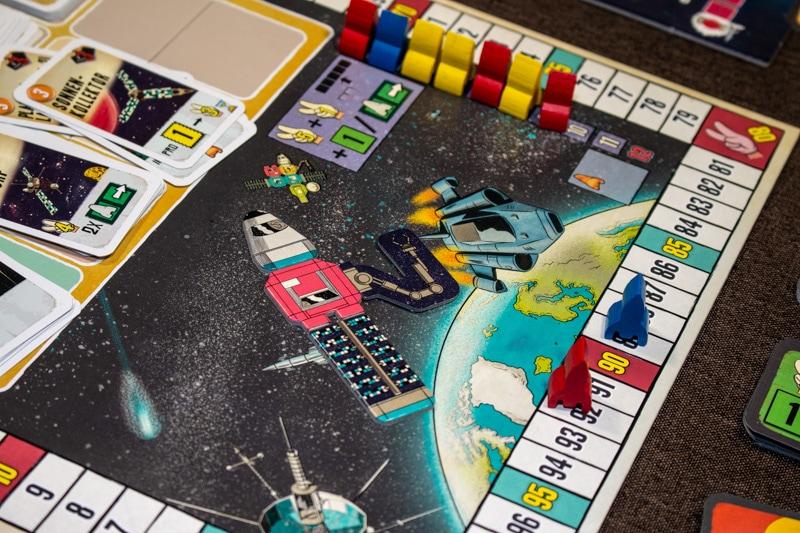Lift Off Brettspiel Spielplan