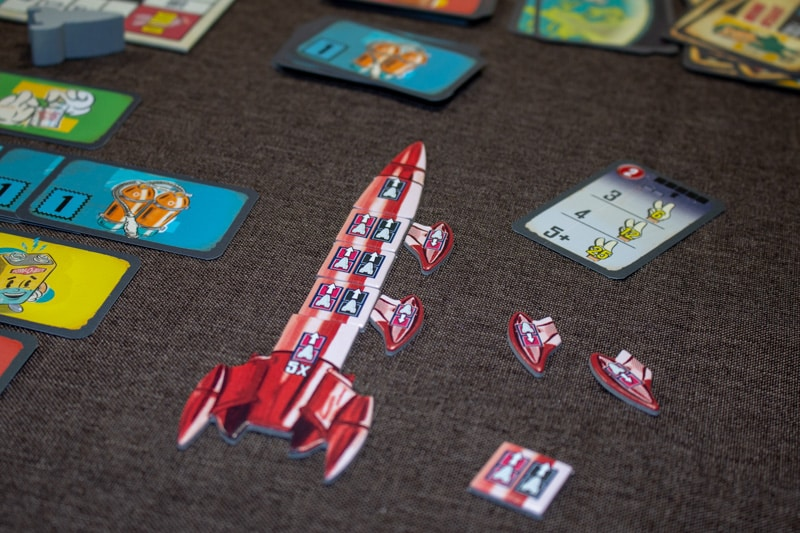 Lift Off Brettspiel Rakete