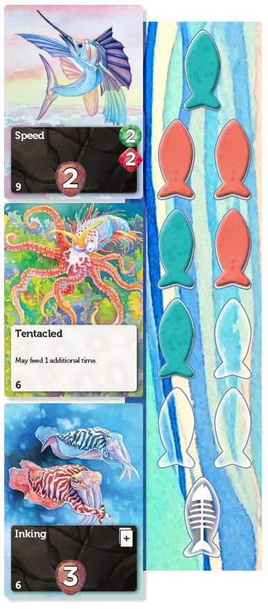 Oceans Brettspiel Spieler-Tableau