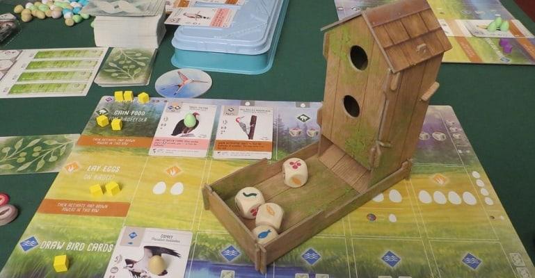 Flügelschlag Brettspiel Spielmaterial