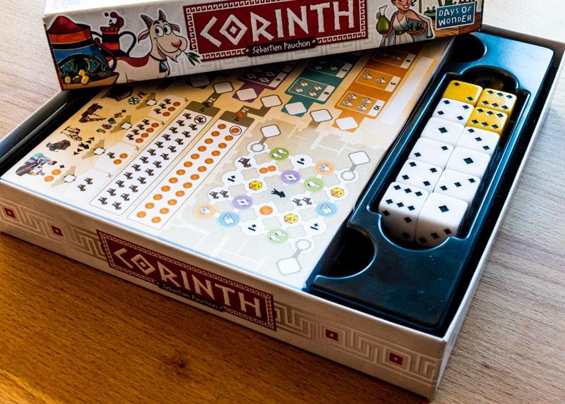 Corinth Brettspiel Inhalt