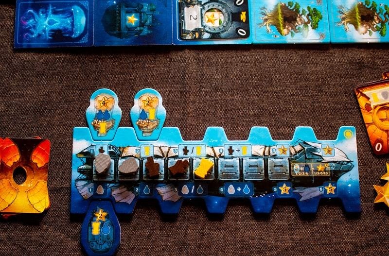 Solenia Brettspiel Spieler Tableau