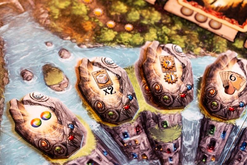 Rune Stones Brettspiel Spieler Runen