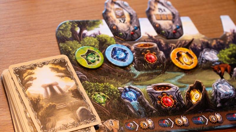 Rune Stones Brettspiel Spieler Tableau