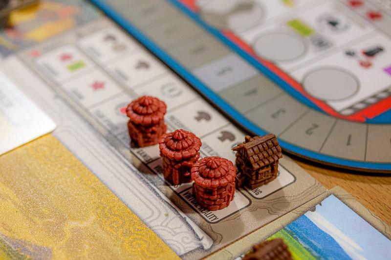 Tapestry Brettspiel Häuser