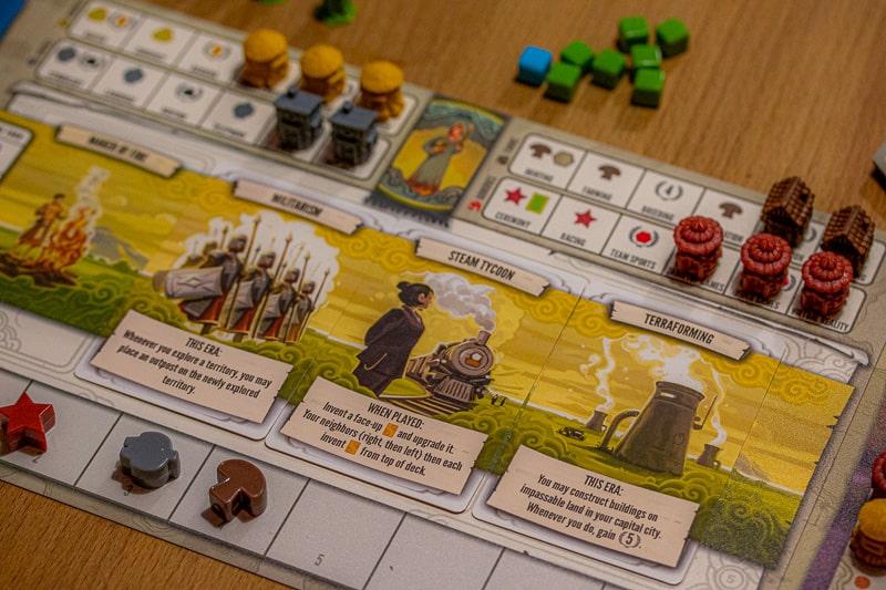 Tapestry Brettspiel Spieler-Tableau