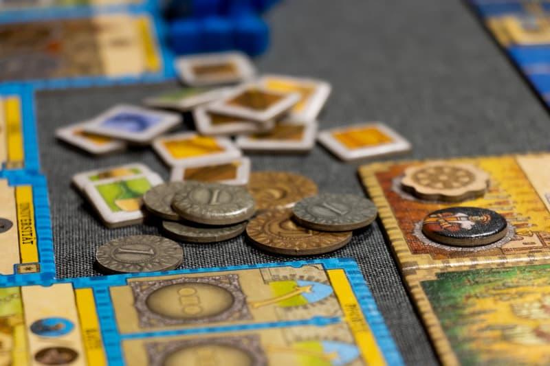 Orléans Stories Brettspiel Münzen