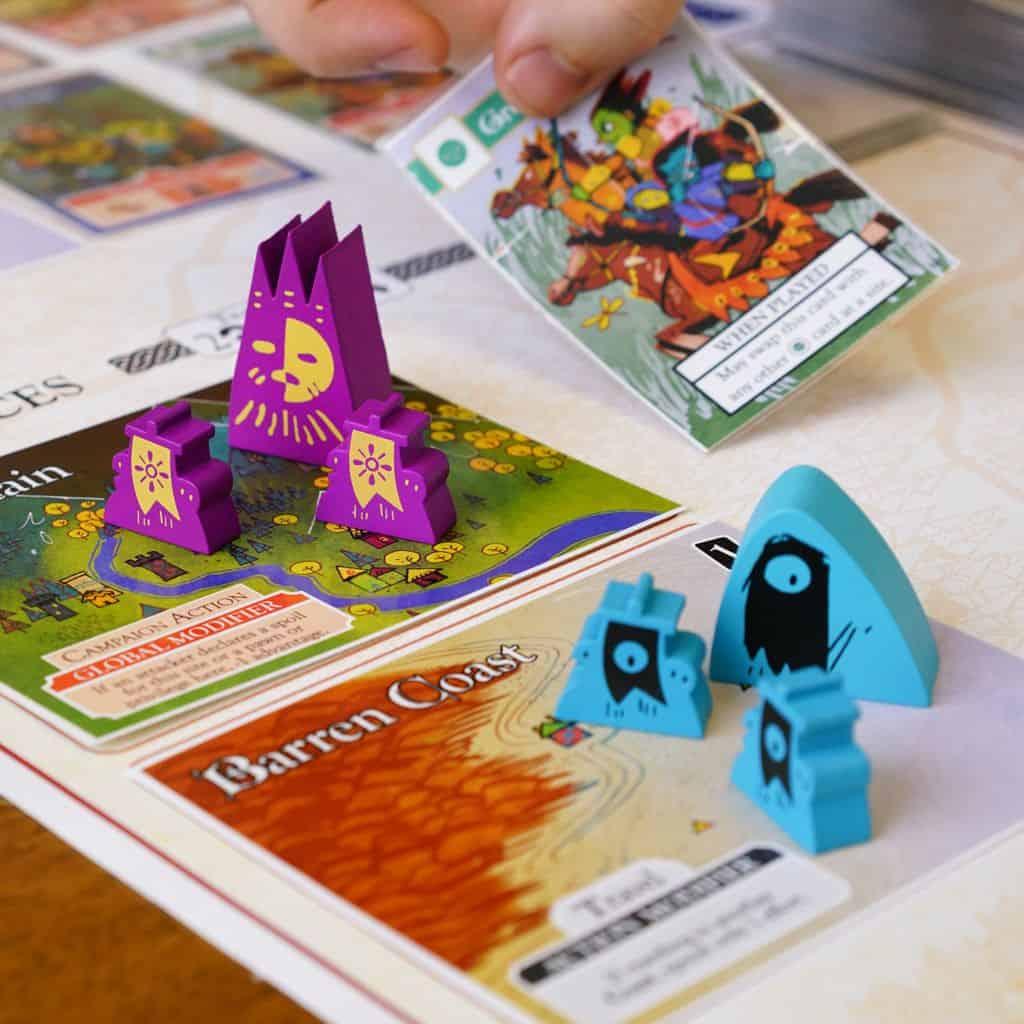 Brettspiele bei Kickstarter: Oath Spielplan