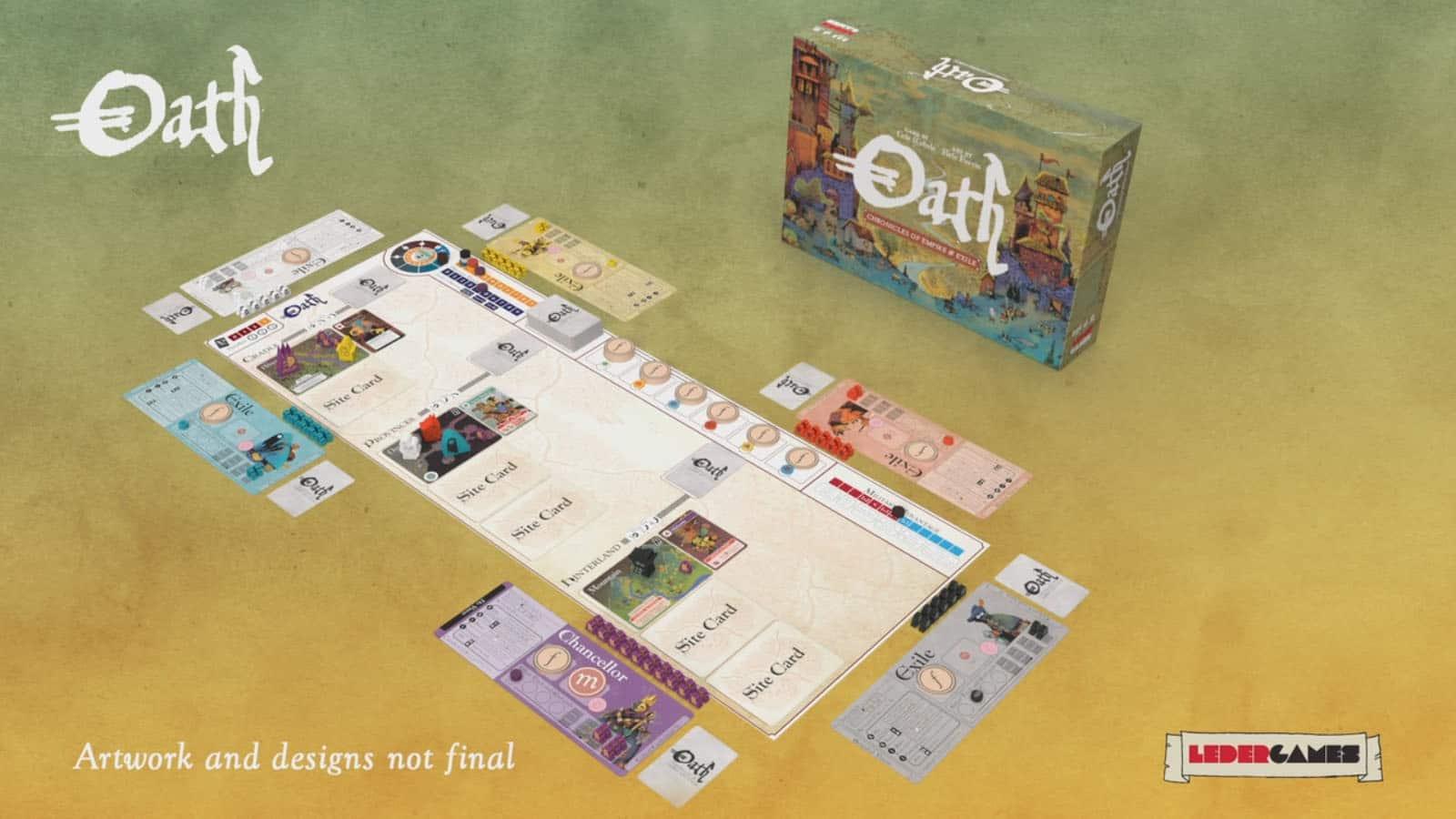Brettspiele bei Kickstarter: Oath - Spielplan