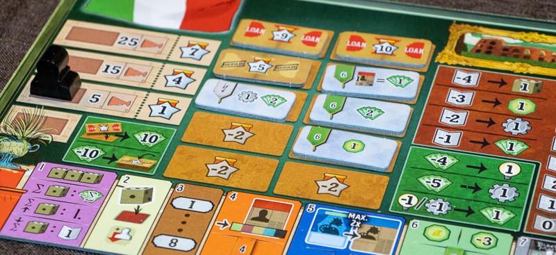Crystal Palace Brettspiel Spieler Tableau