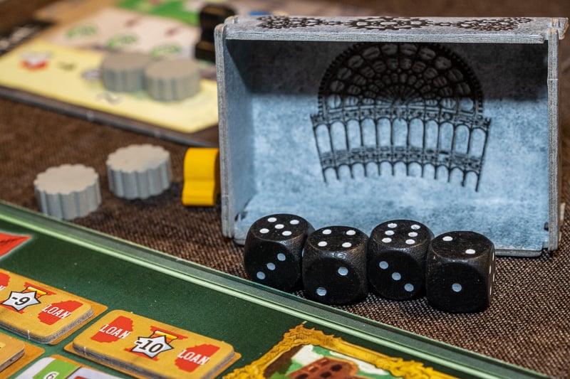 Crystal Palace Brettspiel Würfel