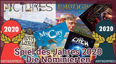 Spiel des Jahres 2020 - Die Nominierten
