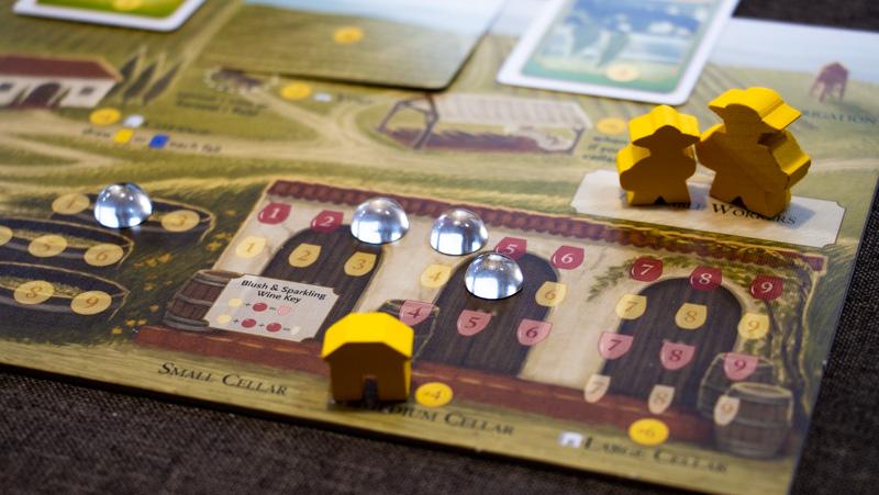 Viticulture Brettspiel Spieler Tableau